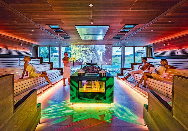Sauna im 4-Sterne-Hotel Mooshof